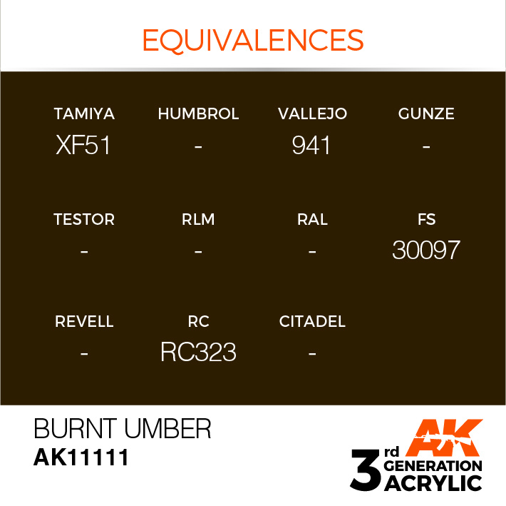 AK-Interactive Burnt Umber Acrylic Modelling Color - 17ml - AK-11111
