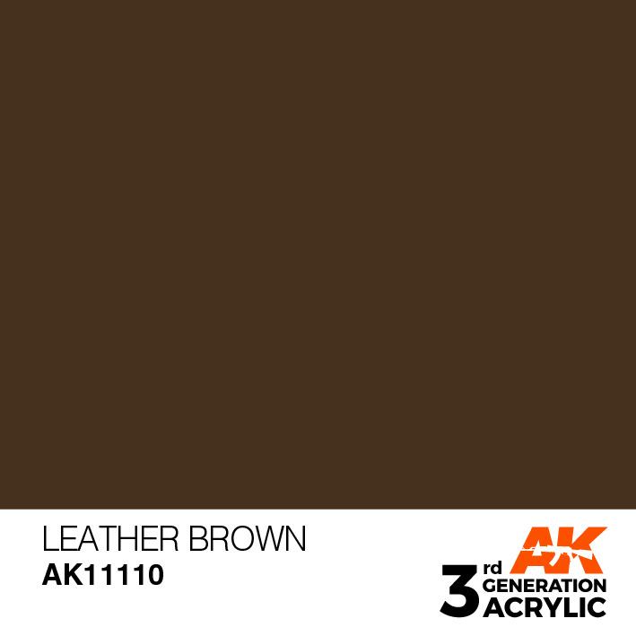 AK-Interactive Leather Brown Acrylic Modelling Color - 17ml - AK-11110