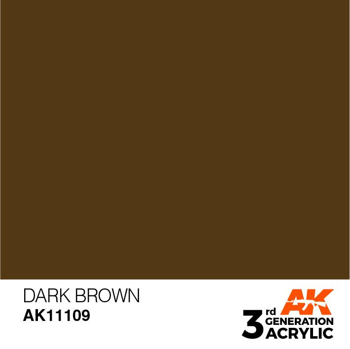 AK-Interactive Dark Brown Acrylic Modelling Color - 17ml - AK-11109