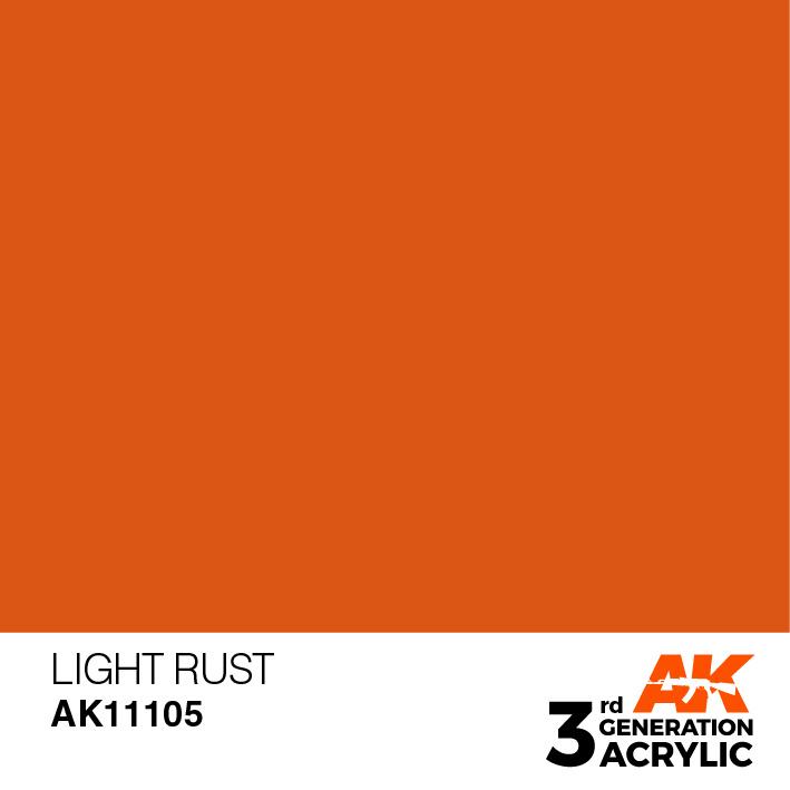AK-Interactive Light Rust Acrylic Modelling Color - 17ml - AK-11105