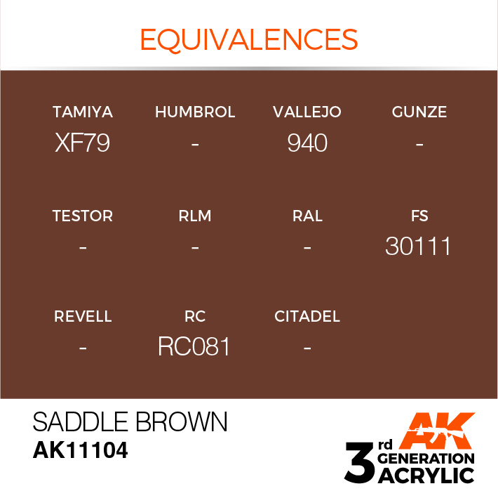 AK-Interactive Saddle Brown Acrylic Modelling Color - 17ml - AK-11104