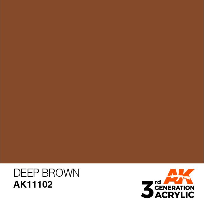 AK-Interactive Deep Brown Acrylic Modelling Color - 17ml - AK-11102