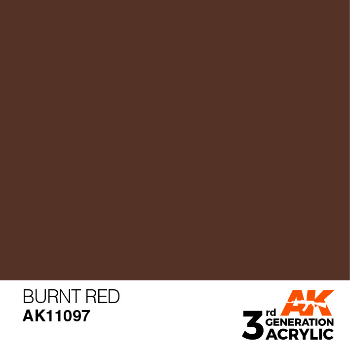 AK-Interactive Burnt Red Acrylic Modelling Color - 17ml - AK-11097