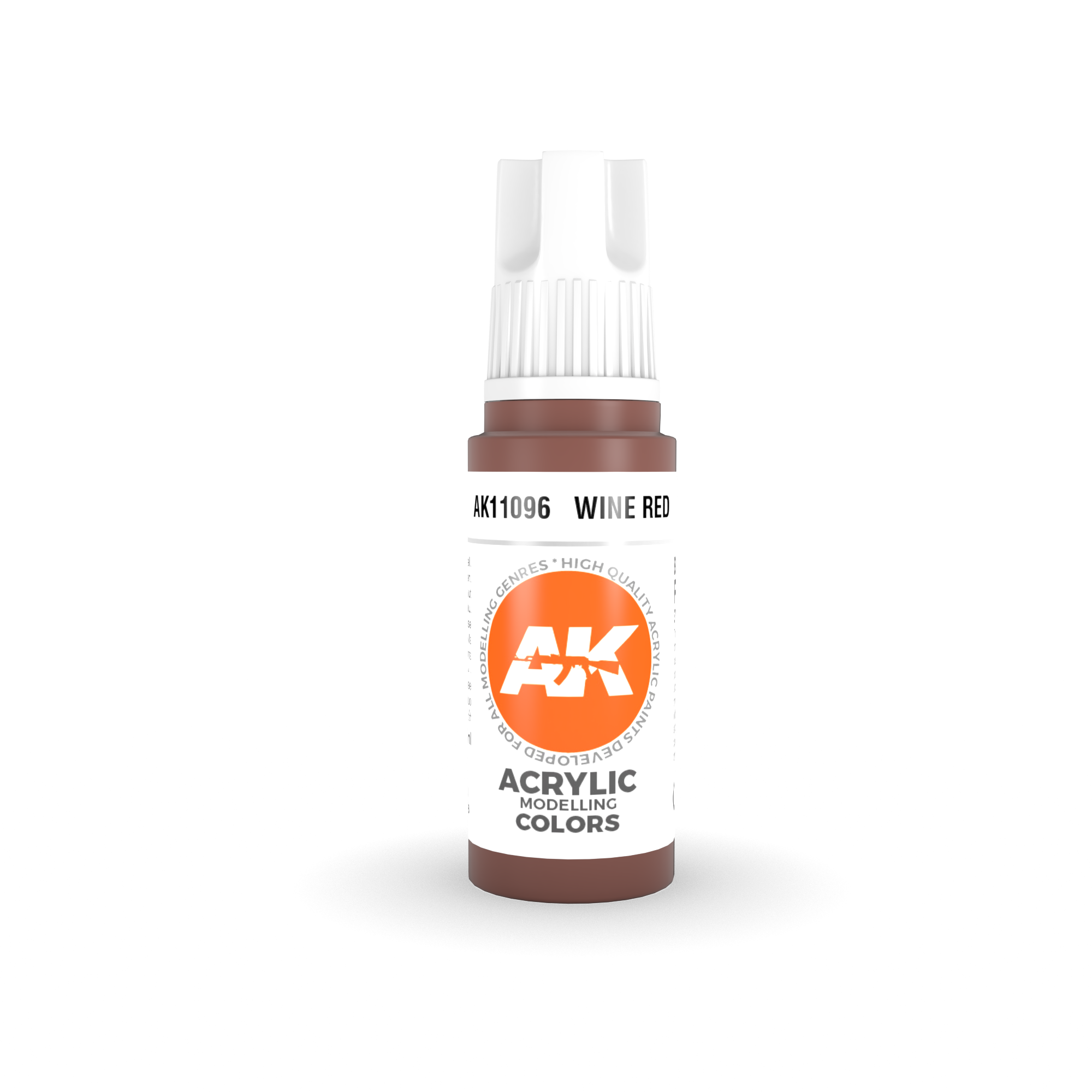 AK-Interactive Wine Red Acrylic Modelling Color - 17ml - AK-11096