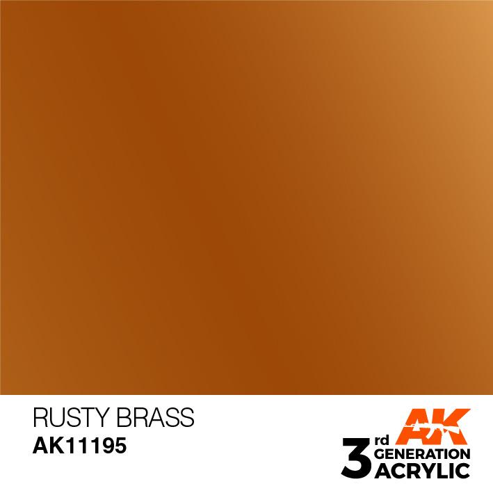 AK-Interactive Rusty Brass Acrylic Modelling Color - 17ml - AK-11195