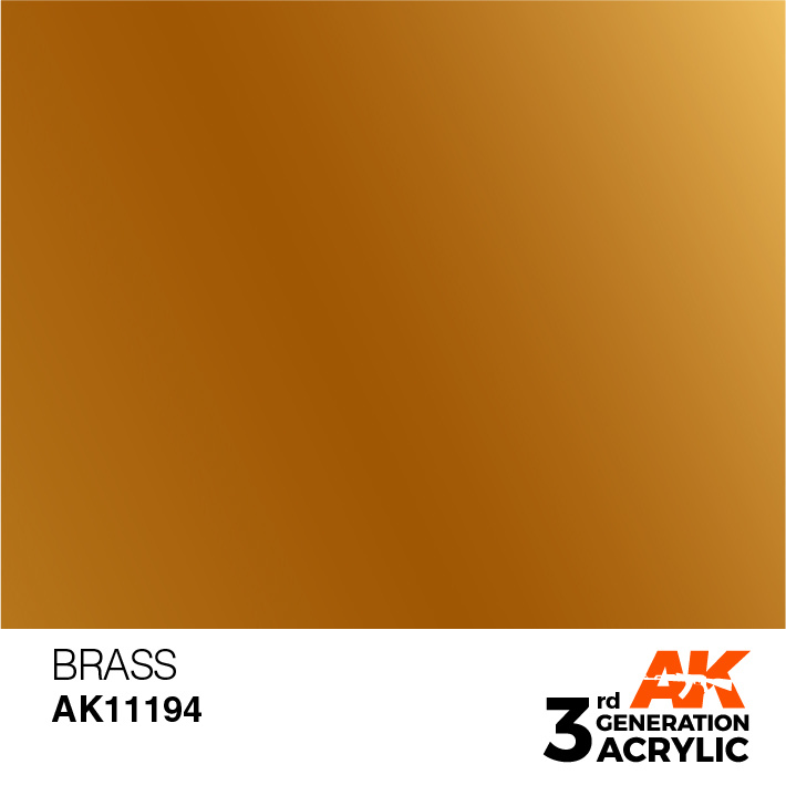 AK-Interactive Brass Acrylic Modelling Color - 17ml - AK-11194