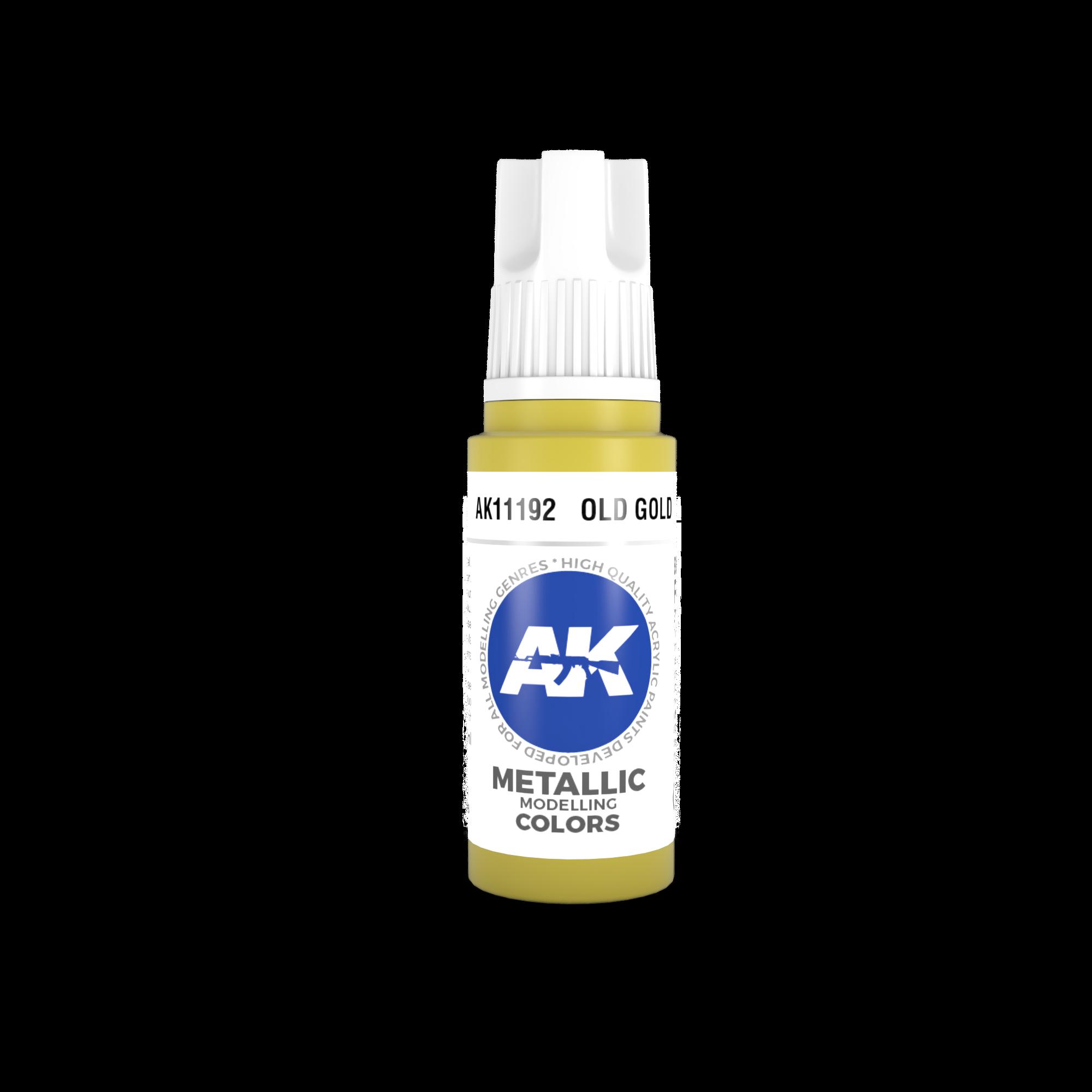 AK-Interactive Old Gold Acrylic Modelling Color - 17ml - AK-11192