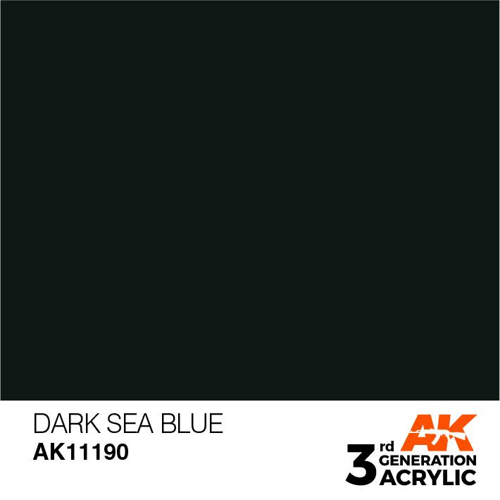 AK-Interactive Dark Sea Blue Acrylic Modelling Color - 17ml - AK-11190