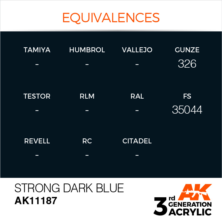 AK-Interactive Strong Dark Blue Acrylic Modelling Color - 17ml - AK-11187