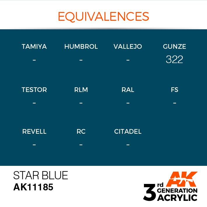 AK-Interactive Star Blue Acrylic Modelling Color - 17ml - AK-11185