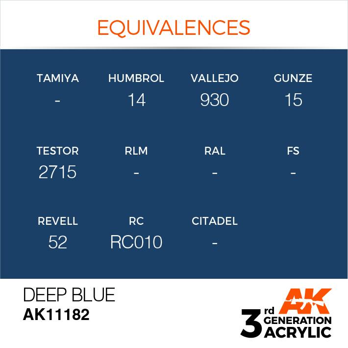 AK-Interactive Deep Blue Acrylic Modelling Color - 17ml - AK-11182