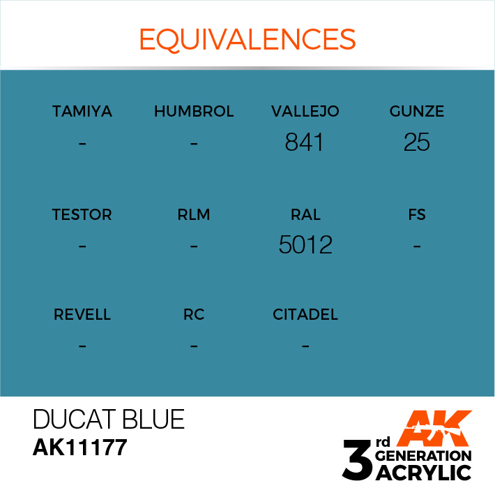 AK-Interactive Ducat Blue Acrylic Modelling Color - 17ml - AK-11177