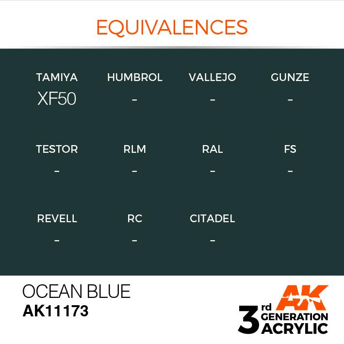 AK-Interactive Ocean Blue Acrylic Modelling Color - 17ml - AK-11173