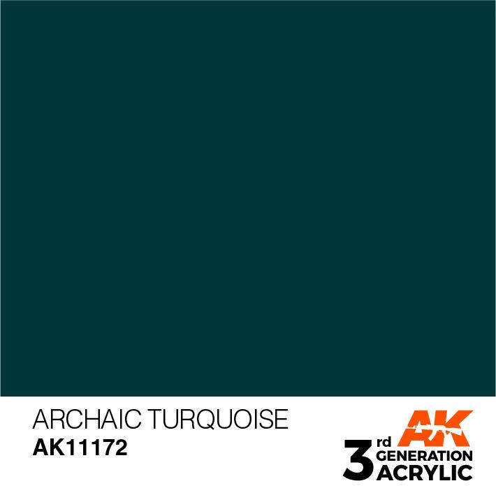 AK-Interactive Archaic Turquoise Acrylic Modelling Color - 17ml - AK-11172