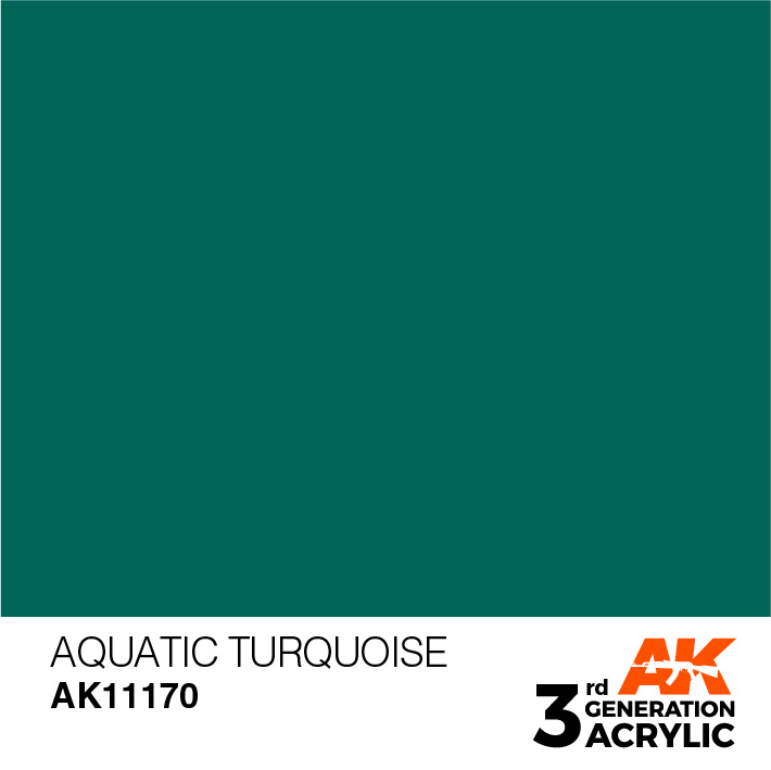 AK-Interactive Aquatic Turquoise Acrylic Modelling Color - 17ml - AK-11170
