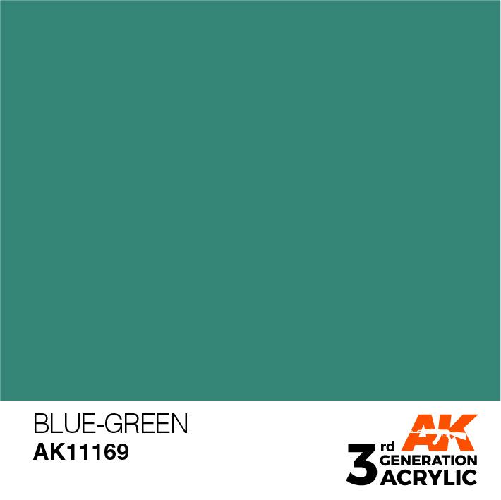 AK-Interactive Blue-Green Acrylic Modelling Color - 17ml - AK-11169