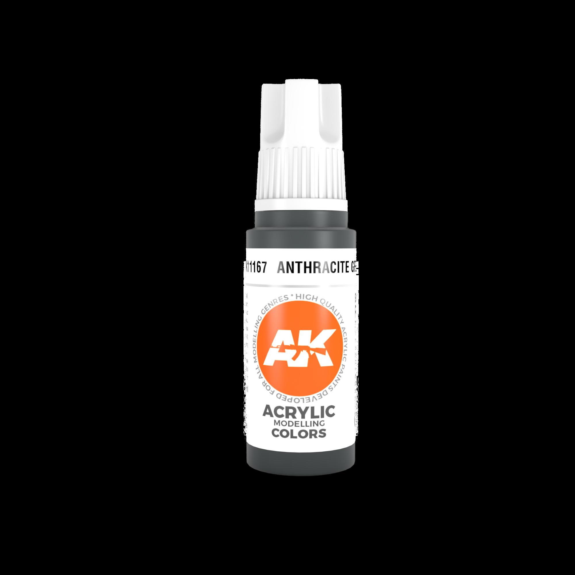 AK-Interactive Anthracite Grey Acrylic Modelling Color - 17ml - AK-11167