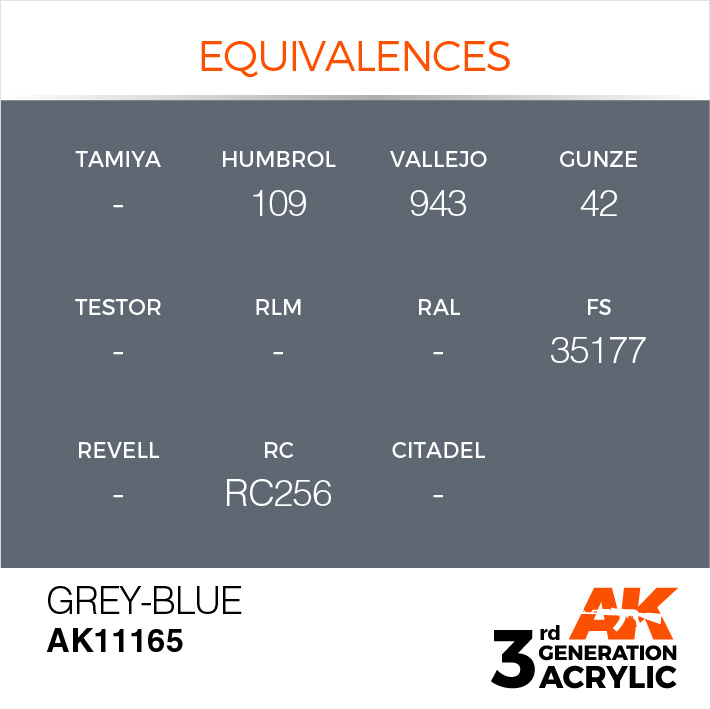 AK-Interactive Grey-Blue Acrylic Modelling Color - 17ml - AK-11165