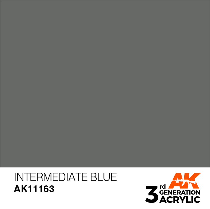 AK-Interactive Intermediate Blue Acrylic Modelling Color - 17ml - AK-11163