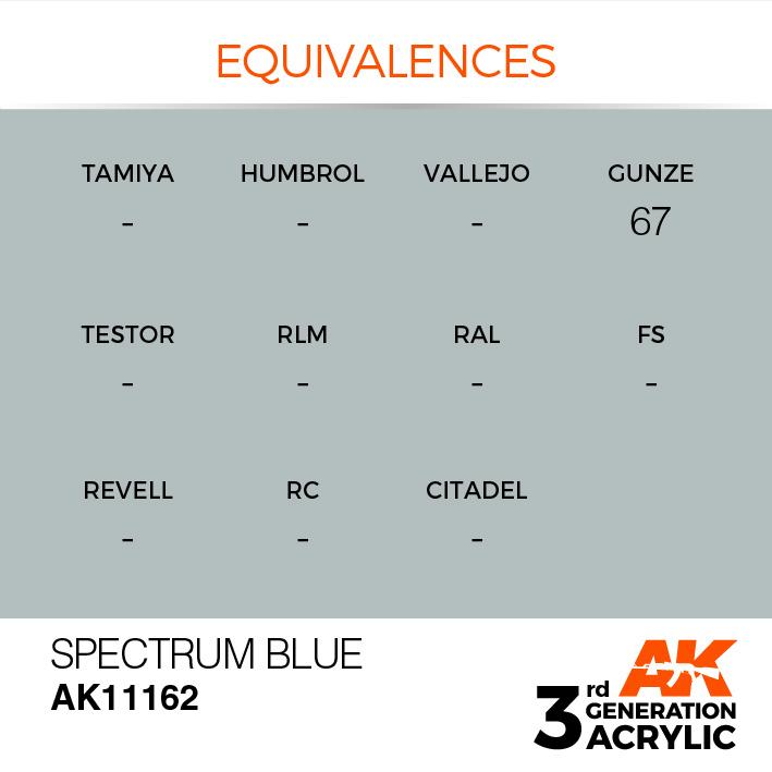 AK-Interactive Spectrum Blue Acrylic Modelling Color - 17ml - AK-11162