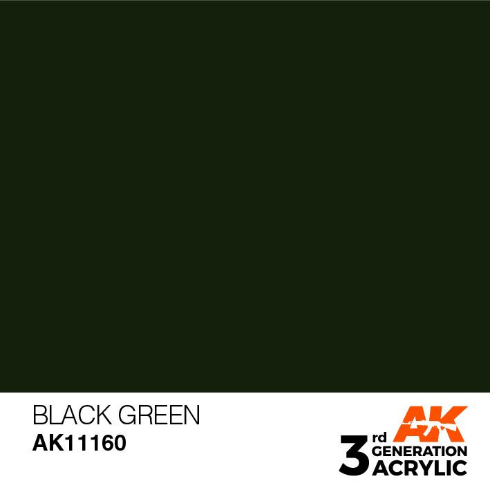 AK-Interactive Black Green Acrylic Modelling Color - 17ml - AK-11160
