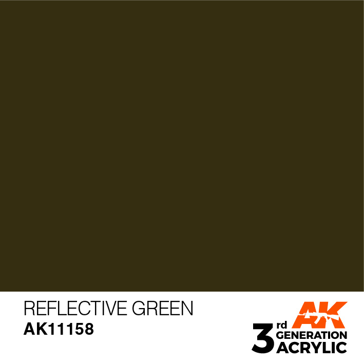 AK-Interactive Reflective Green Acrylic Modelling Color - 17ml - AK-11158