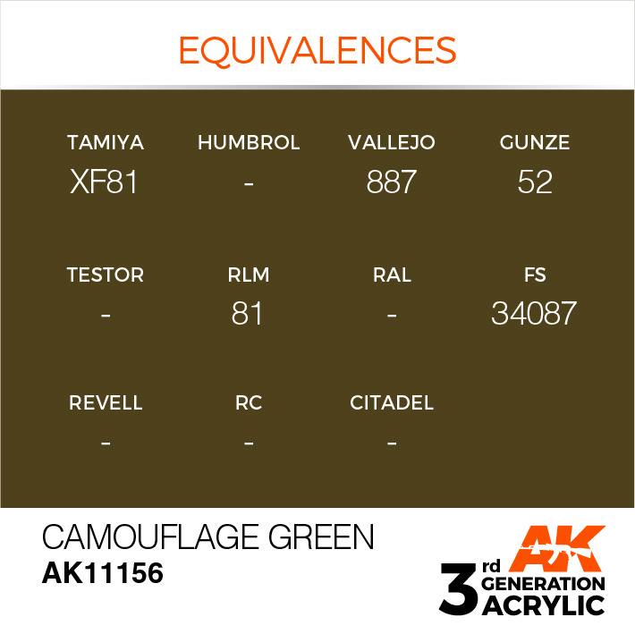 AK-Interactive Camouflage Green Acrylic Modelling Color - 17ml - AK-11156