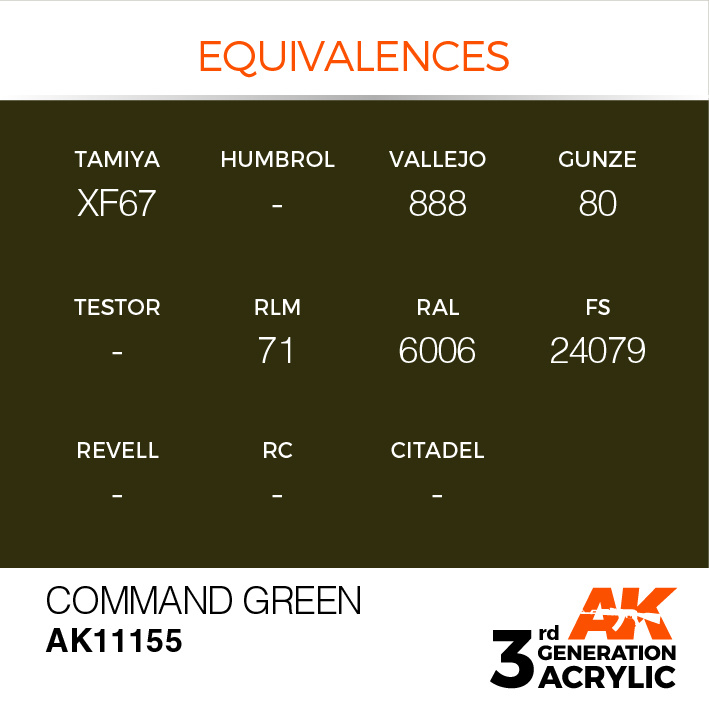 AK-Interactive Command Green Acrylic Modelling Color - 17ml - AK-11155