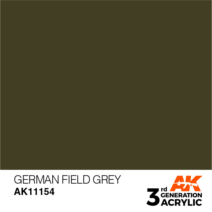 AK-Interactive German Field Grey Acrylic Modelling Color - 17ml - AK-11154