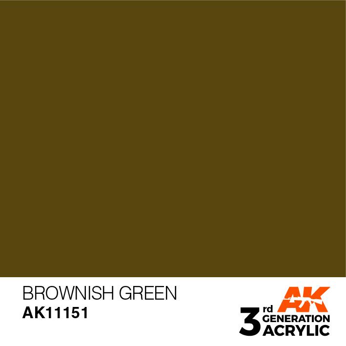 AK-Interactive Brownish Green Acrylic Modelling Color - 17ml - AK-11151