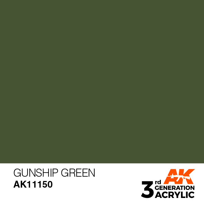 AK-Interactive Gunship Green Acrylic Modelling Color - 17ml - AK-11150