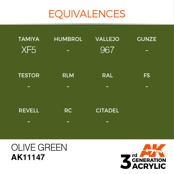 AK-Interactive Olive Green Acrylic Modelling Color - 17ml - AK-11147