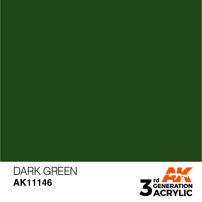 AK-Interactive Dark Green Acrylic Modelling Color - 17ml - AK-11146