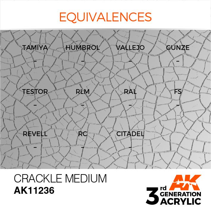 AK-Interactive Crackle Medium Acrylic Modelling Color - 17ml - AK-11236