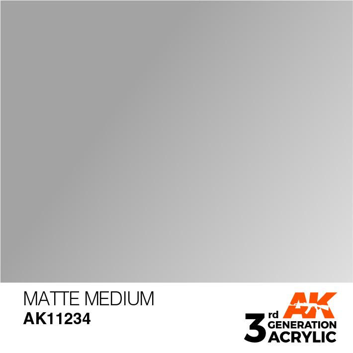 AK-Interactive Matte Medium Acrylic Modelling Color - 17ml - AK-11234