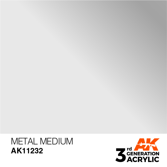 AK-Interactive Metal Medium Acrylic Modelling Color - 17ml - AK-11232