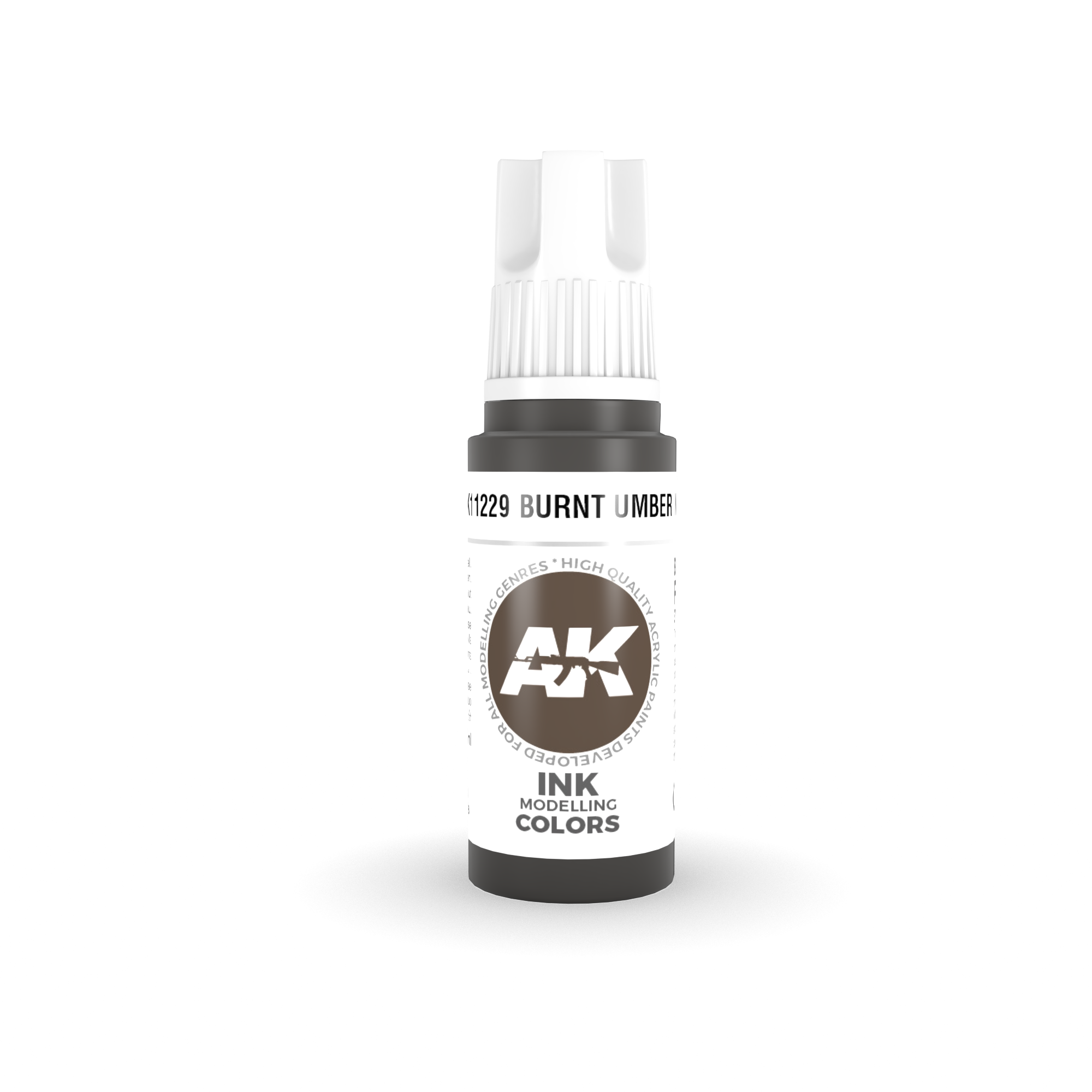 AK-Interactive Burnt Umber Ink Acrylic Modelling Color - 17ml - AK-11229