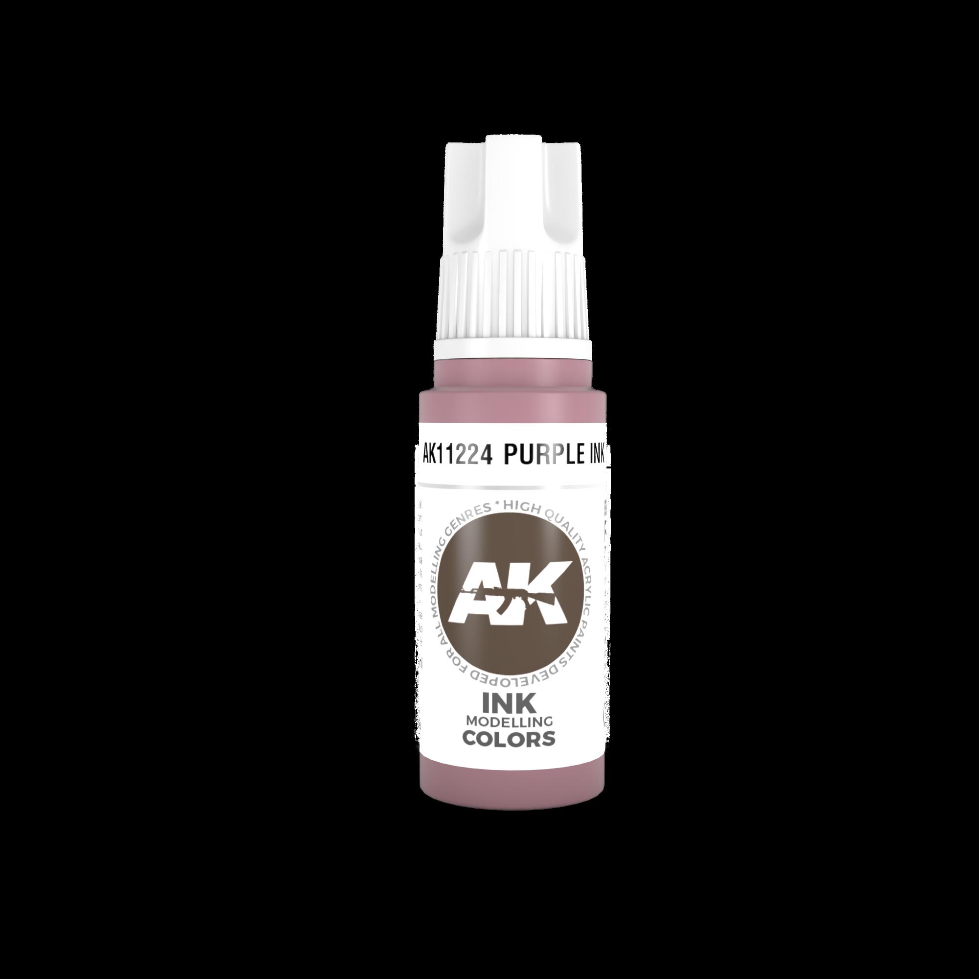 AK-Interactive Purple Ink Acrylic Modelling Color - 17ml - AK-11224