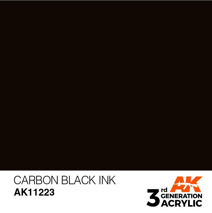 AK-Interactive Carbon Black Ink Acrylic Modelling Color - 17ml - AK-11223