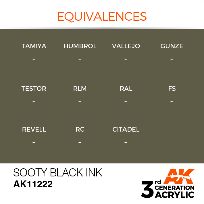 AK-Interactive Sooty Black Ink Acrylic Modelling Color - 17ml - AK-11222
