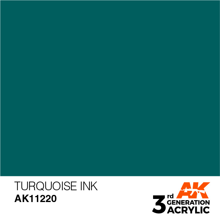 AK-Interactive Turquoise Ink Acrylic Modelling Color - 17ml - AK-11220