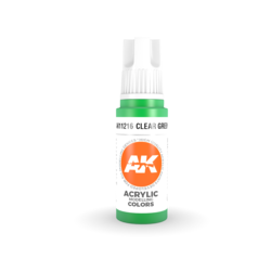 Clear Green Acrylic Modelling Color - 17ml - AK-11216