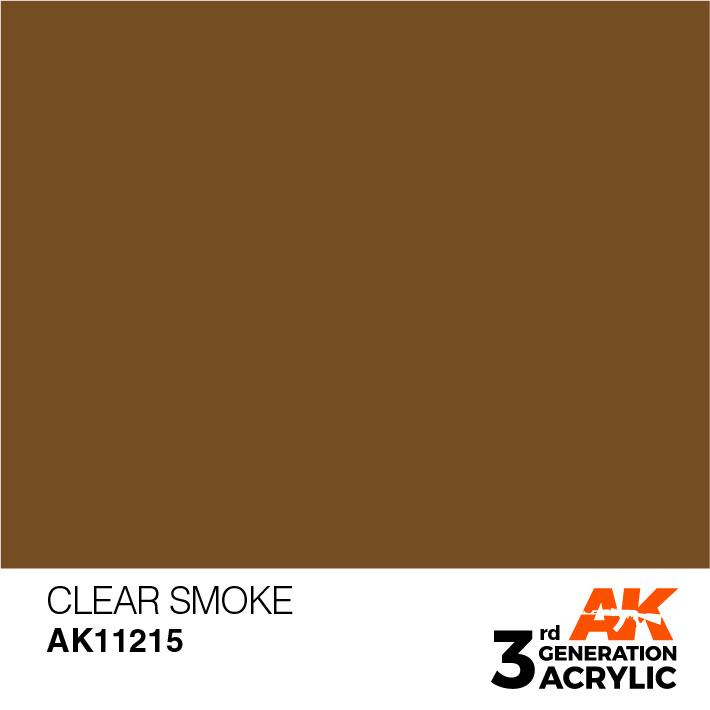 AK-Interactive Clear Smoke Acrylic Modelling Color - 17ml - AK-11215