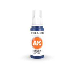 Clear Blue Acrylic Modelling Color - 17ml - AK-11214