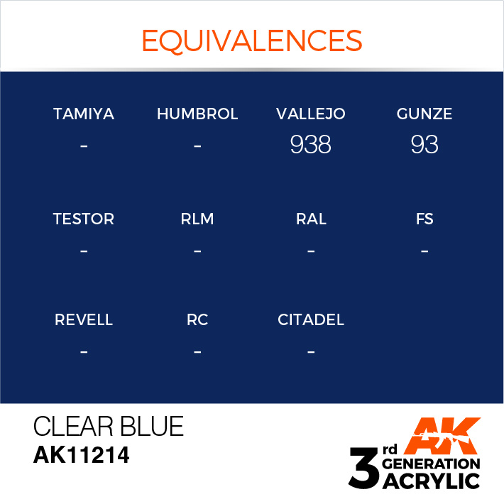 AK-Interactive Clear Blue Acrylic Modelling Color - 17ml - AK-11214