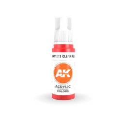Clear Red Acrylic Modelling Color - 17ml - AK-11213