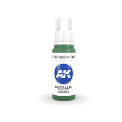 Emerald Metallic Green Acrylic Modelling Color - 17ml - AK-11204