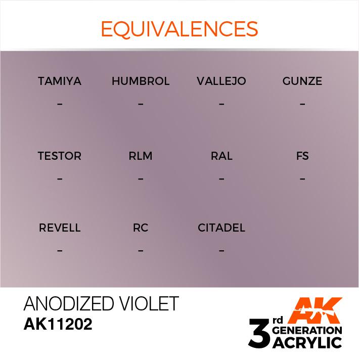 AK-Interactive Anodized Violet Acrylic Modelling Color - 17ml - AK-11202
