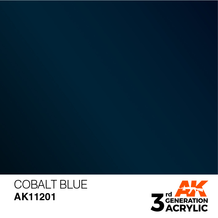 AK-Interactive Cobalt Blue Acrylic Modelling Color - 17ml - AK-11201