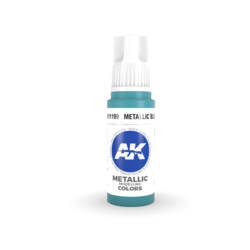 Metallic Blue Acrylic Modelling Color - 17ml - AK-11199